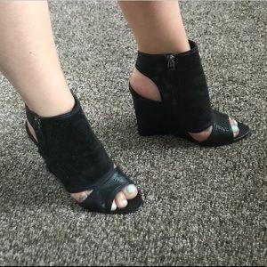 True Religion wedge heels.